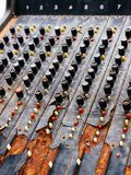 Old unnecessary faulty musical equipment mixer controller DJ control Royalty Free Stock Photo