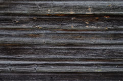 Old unpainted dark wooden boards background Stock Image