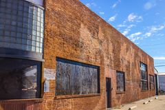Old Unsed Boarded Up Brick Building Stock Images