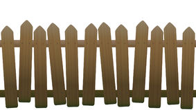 Old Unsteady Crooked Wooden Fence Royalty Free Stock Images