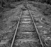 Old, unused railroad tracks found in Canada stock image