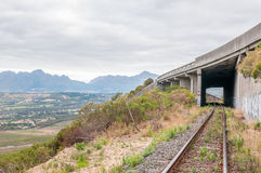 Old, unused roalroad in Sir Lowrys Pass Stock Photography