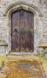Old unused wooden door Royalty Free Stock Photography
