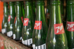 Old 7up glass bottle. Stock Photography