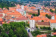 Old upper town in Zagreb Stock Image