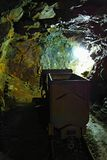 Old Uranium mine. Deep in the old uranium mine, the city of Jachymov in the Czech Republic Royalty Free Stock Photography