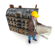 Old urban building renovation Stock Image