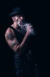 Old urban man Stock Image