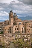 Old Urbino, Italy, Cityscape at Dull Day Royalty Free Stock Photography