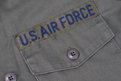 Old us air force uniform Stock Photo