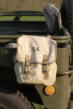 Old US Army bag Stock Photography
