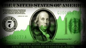 Old US dollar rising. America`s economy rising new, unique, quality financial video footage. US dollar rising. America`s economy rising new, unique, quality stock footage