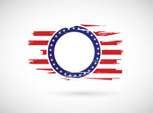 old us history flag illustration design Stock Images