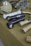Old US military flash Lights. Display Stock Images