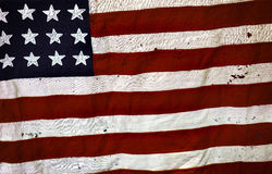 Old USA flag Royalty Free Stock Photo
