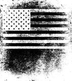 Old USA flag Stock Images