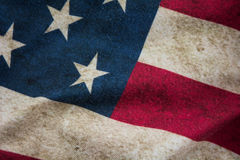 Old USA flag background Royalty Free Stock Images