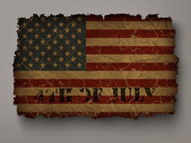 Old USA flag on independence day Stock Images