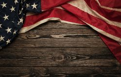 Old USA flag Stock Photos