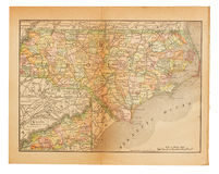 Old USA map Royalty Free Stock Photo
