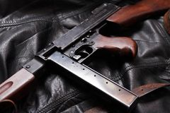 Old USA Submachine Gun Royalty Free Stock Photos
