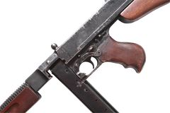 Old USA Submachine Gun Royalty Free Stock Photo