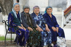 Old Usbek women, Samarkand, Uzbekistan Royalty Free Stock Photos