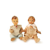 Old used antique dolls  Royalty Free Stock Images