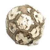 Old used ball for soccer or football Royalty Free Stock Photo