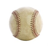 Old used baseball backlit isolated on white Royalty Free Stock Photography