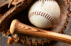 Old Used Baseball Equipment Royalty Free Stock Photography