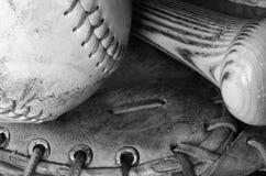 Old Used Baseball Equipment