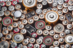 Old used batteries Stock Photography