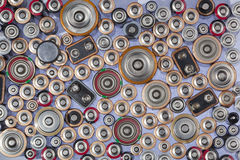 Old used batteries Royalty Free Stock Photos