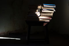 Old used books. The books, all the stories of the world Royalty Free Stock Photography