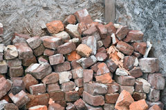 Old Used Bricks royalty free stock image