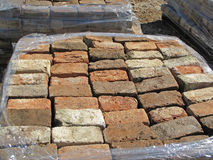 Old Used Selected Bricks Royalty Free Stock Photo