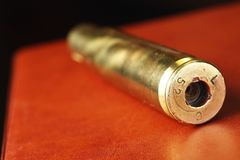 Old used bullet shell scene. Old used bullet shell scene represent weapon concept Stock Photography