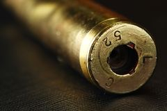 Old used bullet shell scene. Old used bullet shell scene represent weapon concept Royalty Free Stock Photography