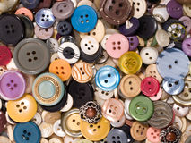 Old and used buttons Royalty Free Stock Photo