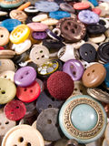 Old and used buttons Stock Photography