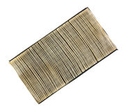 Old and used car air filter Royalty Free Stock Image
