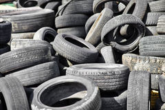 Old used car tires Stock Photos