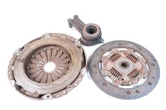 Old clutch kit Stock Image