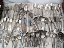 Old Used Cutlery Stock Photos