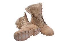 Old used desert boots Royalty Free Stock Image
