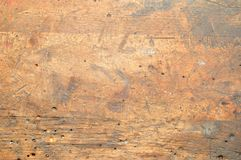 Old used dirty workbench for background. Royalty Free Stock Image