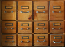 Old and used filing cabinet Stock Photography