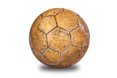 Old, used football. Isolated used football for playing Royalty Free Stock Image