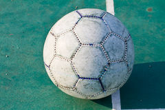 Old used football or soccer ball Royalty Free Stock Images